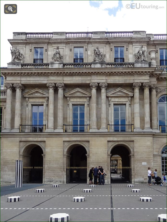 Palais Royal Northern Facade With The God Of War Statue Mars