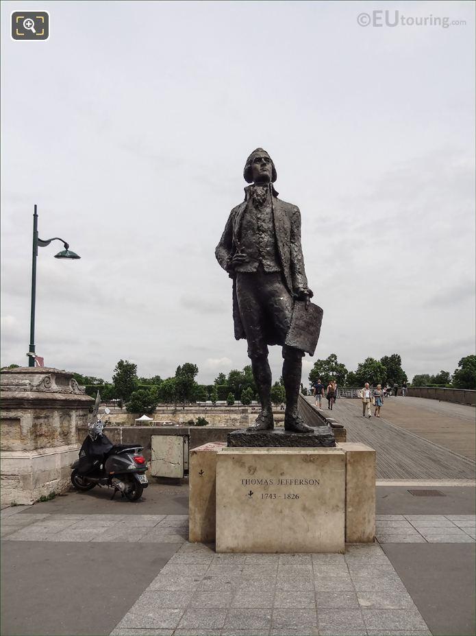 Thomas Jefferson Monument Next To Leopold Sedar Senghor