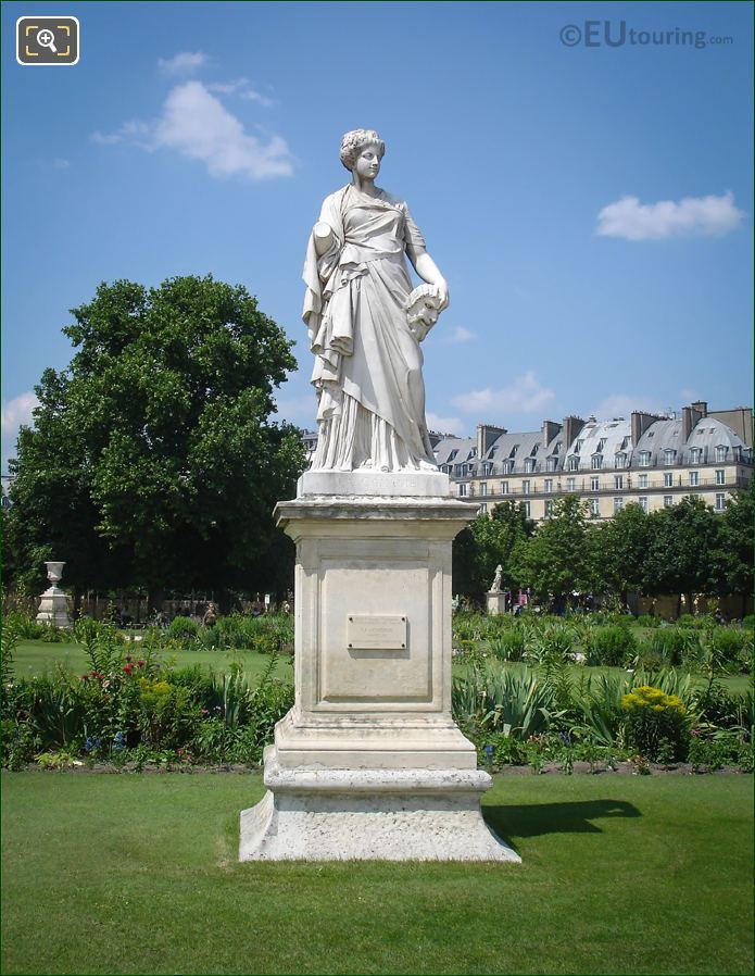 La Comedie Statue By Julien Toussaint Roux