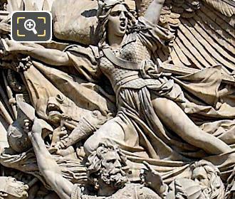 Sculptures on the Arc de Triomphe