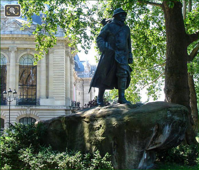 The Petit Palais Georges Clemenceau statue