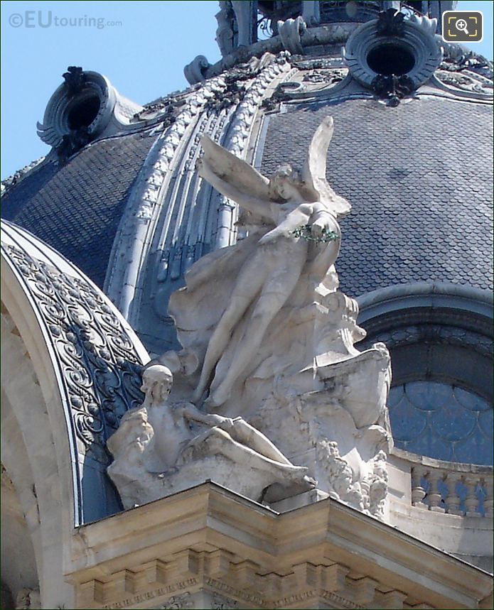 Statues On The Petit Palais In Paris