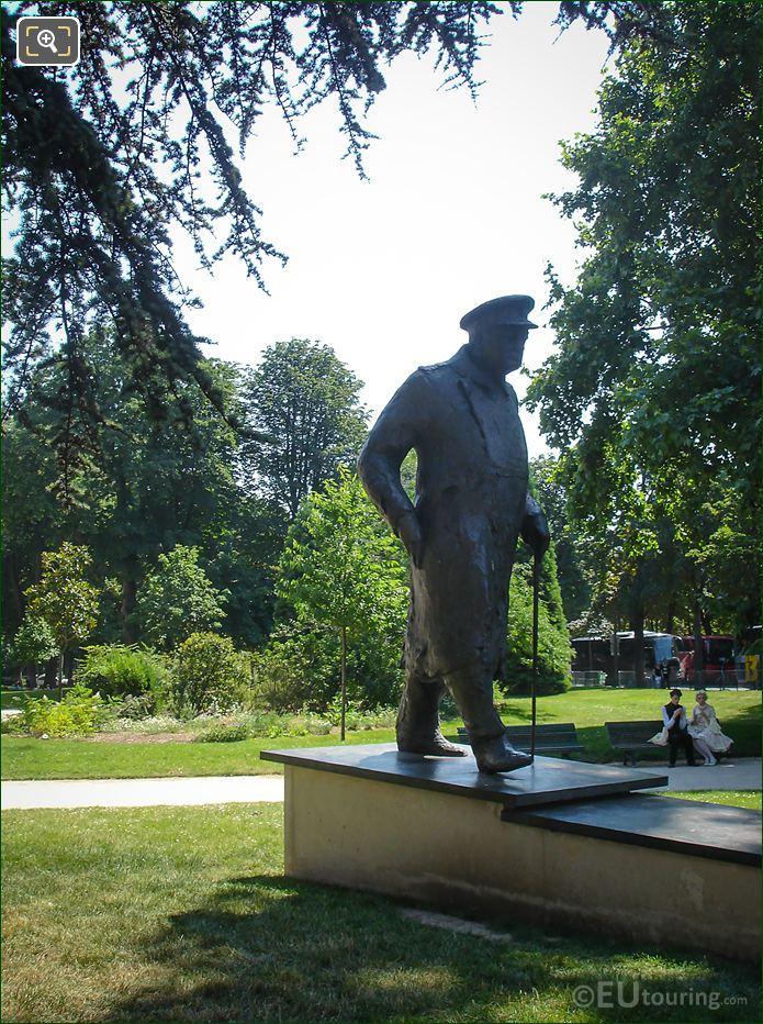 RHS Winston Churchill Statue Petit Palais