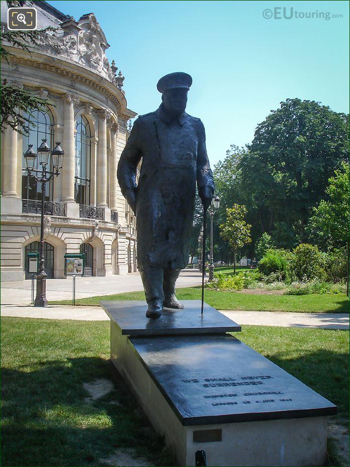 Winston Churchill Statue By Jean Cardot