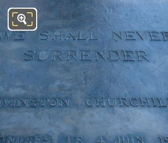 Inscription On Winston Churchill Statue Paris
