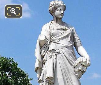 La Comedie statue in the Tuileries Gardens