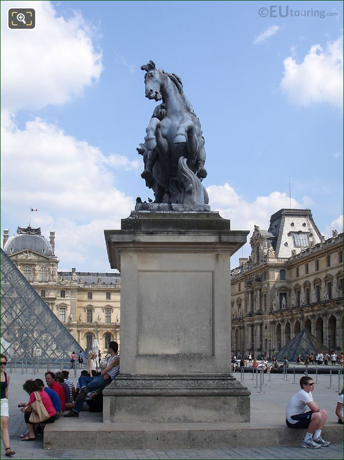 Front Of King Louis XIV Equestrian Statue
