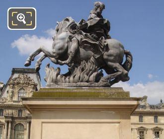 King Louis XIV Equestrian Statue On Its Pedestal