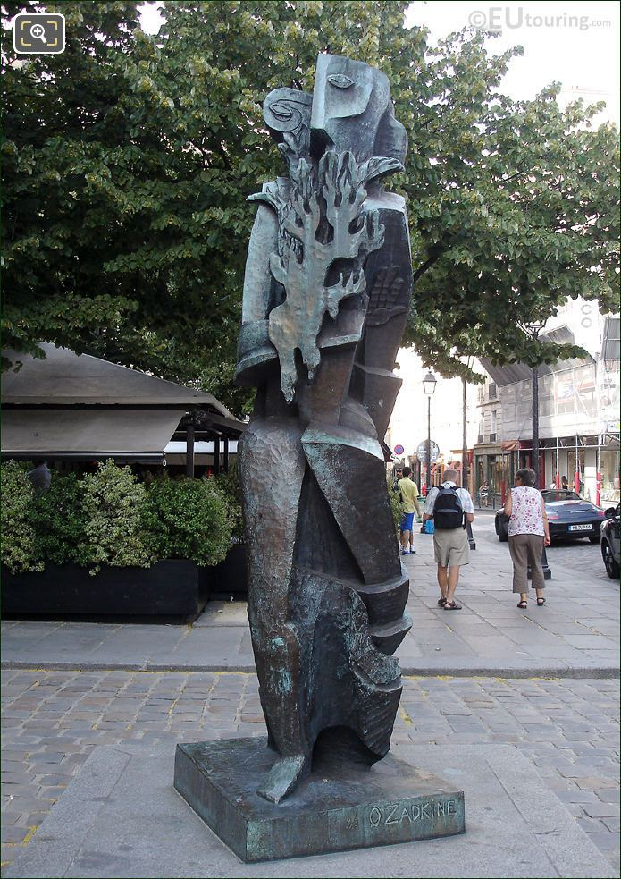 Promethee Holding The Fire By Ossip Zadkine