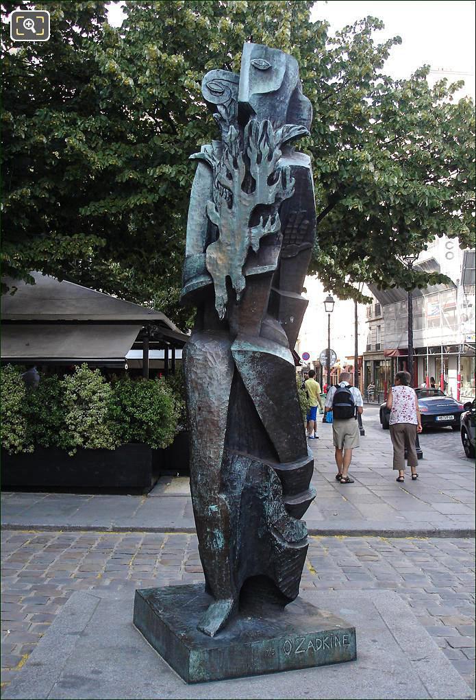 Statue by Ossip Zadkine