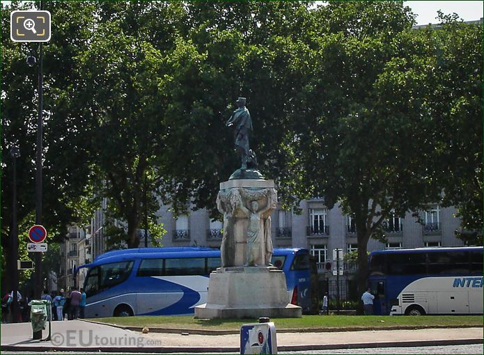 Bronze Joseph Simon Gallieni Statue In Paris