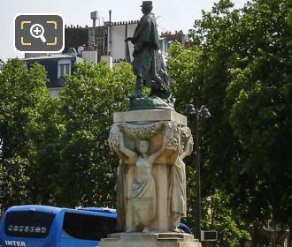 Joseph Simon Gallieni Statue Place Vauban In Paris