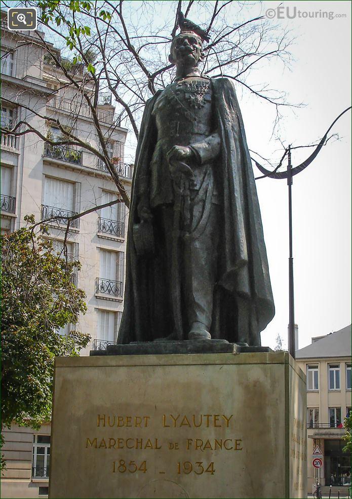 Hubert Lyautey Statue Inside Denys Cochin Square Paris