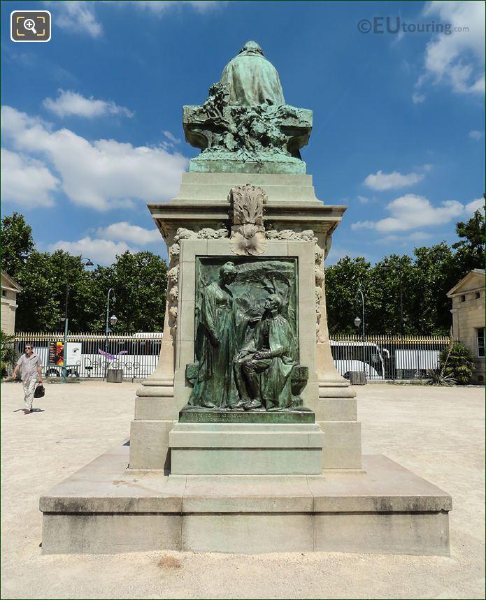 Back Of Jean Baptiste Lamarck Statue