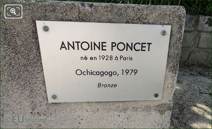 Plaque For Antoine Poncet Sculpture Ochicagogo
