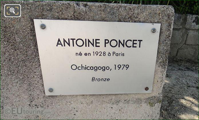 Plaque For Antoine Poncet Sculpture Ochicagogo