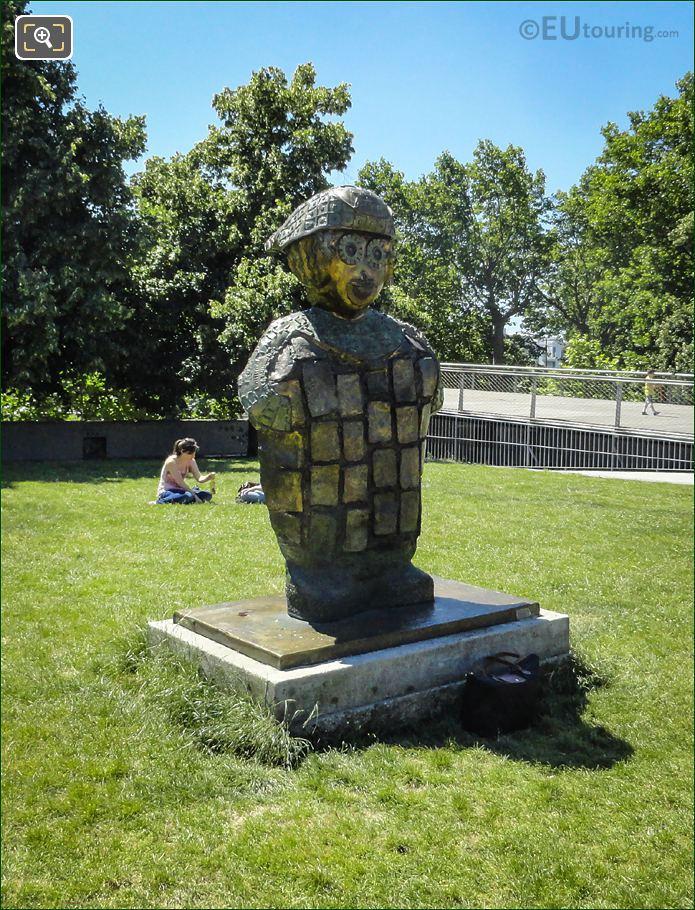 Jean-Baptiste The Monegasque Statue Parc De Bercy