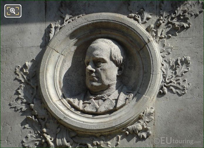 Medallion Of Antoine Barye By Sculptor Laurent Marqueste