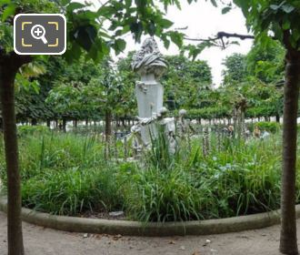 Jardin Des Tuileries Garden With Charles Perrault Monument