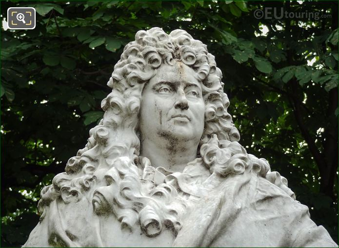 Sculpted Face Of Charles Perrault On Monument