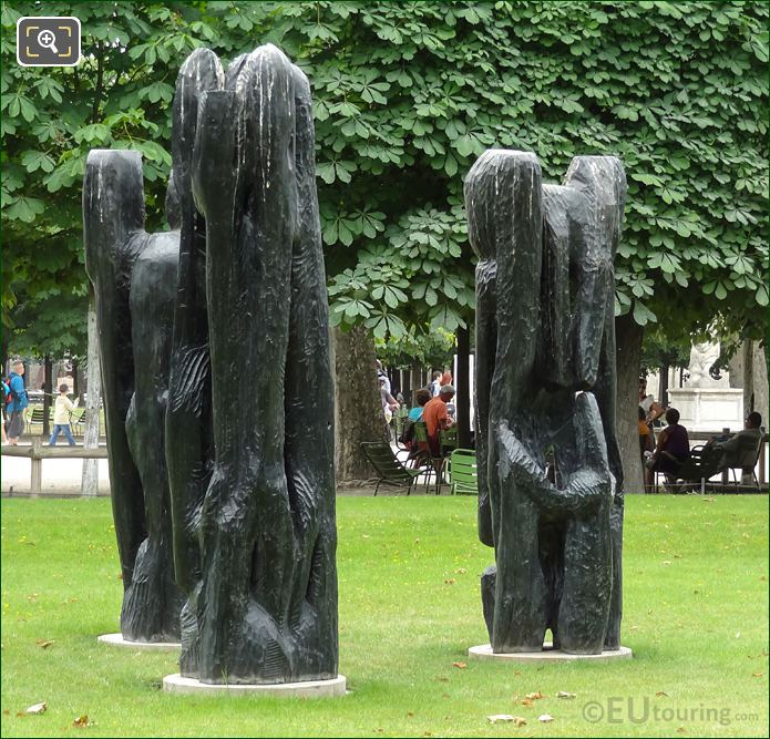 Tuileries Modern Art Sculptures Personnage III