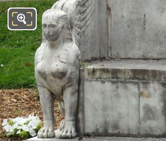 Winged Sphinx Statue On Exedre