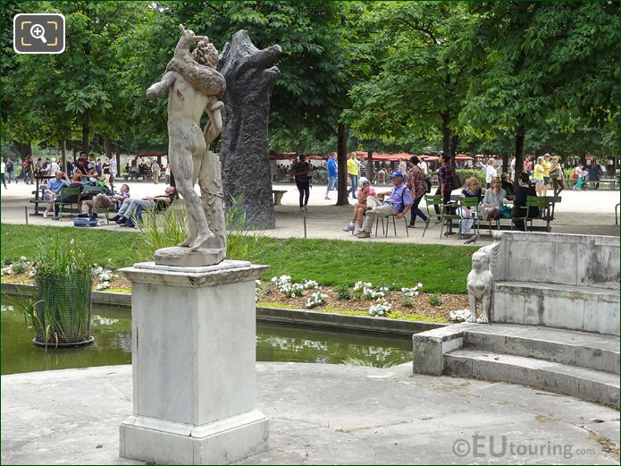 Faune Au Chevreau Statue On Pedestal