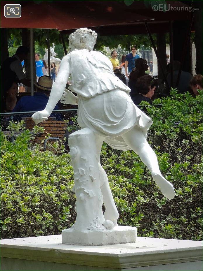 Back Of Atalante Statue Jardin Des Tuileries
