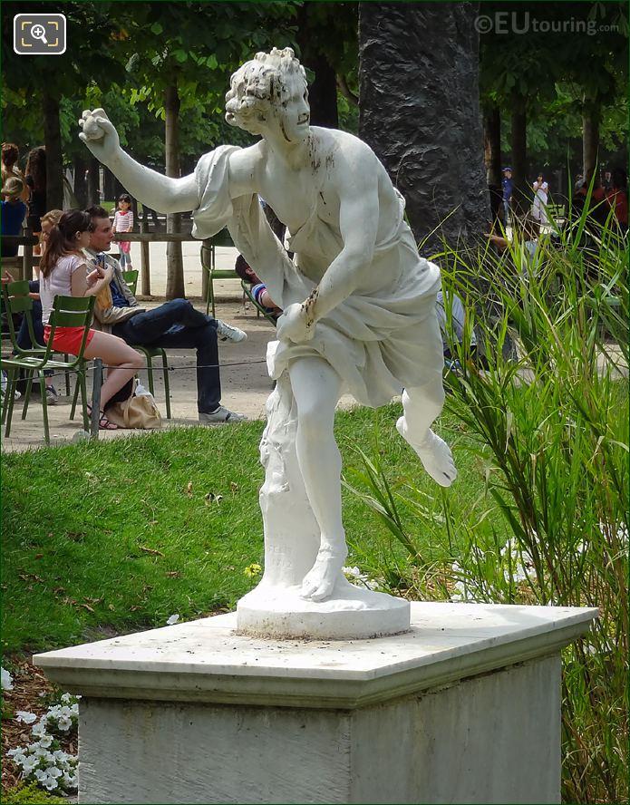 Front Of Hippomene Statue Tuileries Gardens