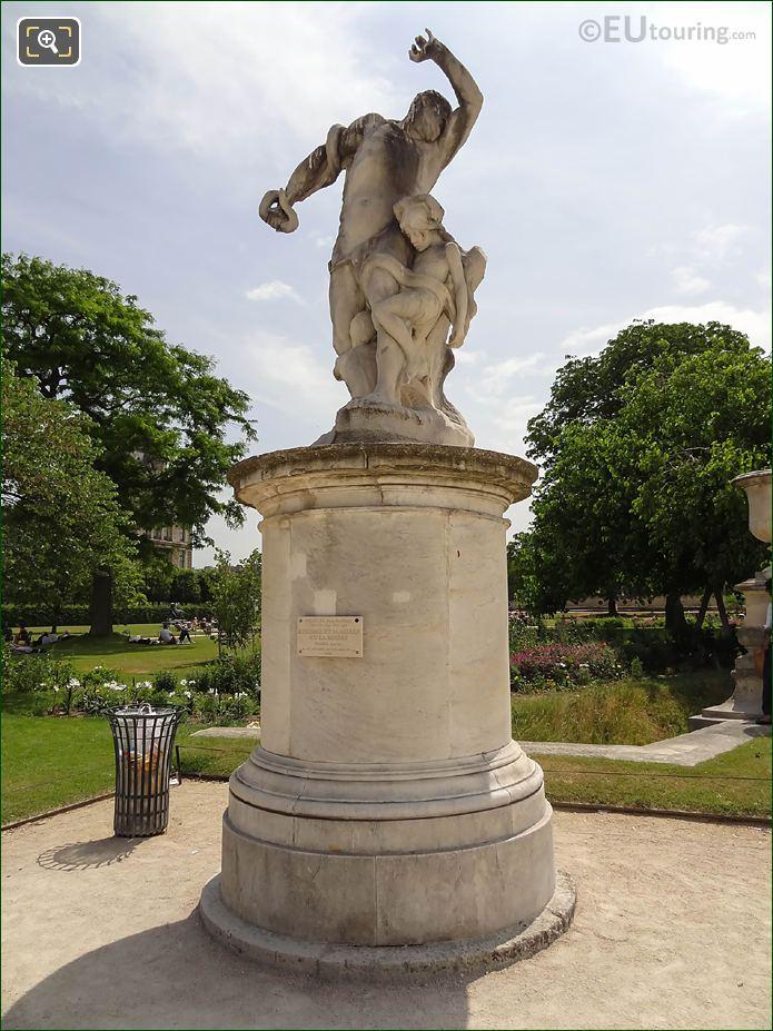L'Homme Et Sa Misere Ou La Misere Statue In Jardin Des Tuileries
