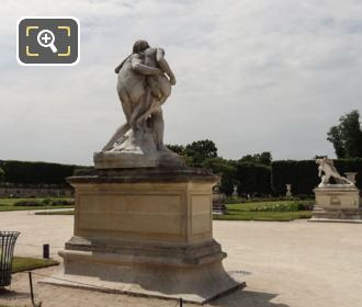 Grand Carre Area With Le Bon Samaritain Statue