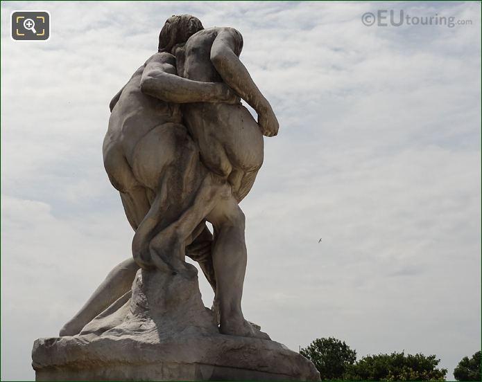 Back Of Le Bon Samaritain Statue