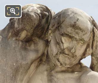 Marble Faces Of Le Bon Samaritain Statue