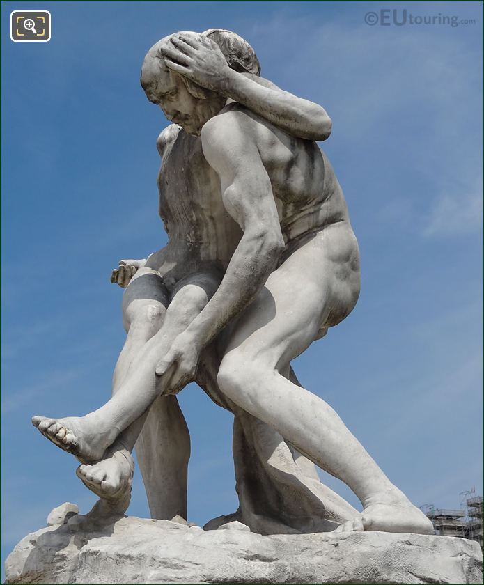 Left Hand Side Of Le Bon Samaritain Statue