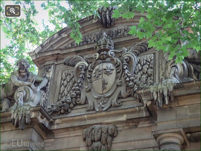 Arms Of France Sculpture By Alphonse De Gisors