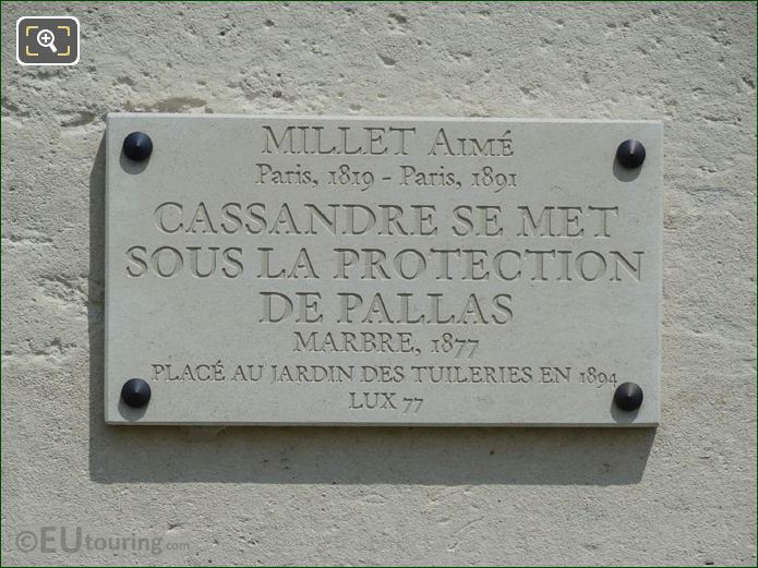 Stone Tourist Information Plaque For Cassandre Statue