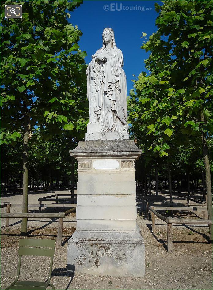 Sainte Clotilde Statue Jardin Du Luxembourg