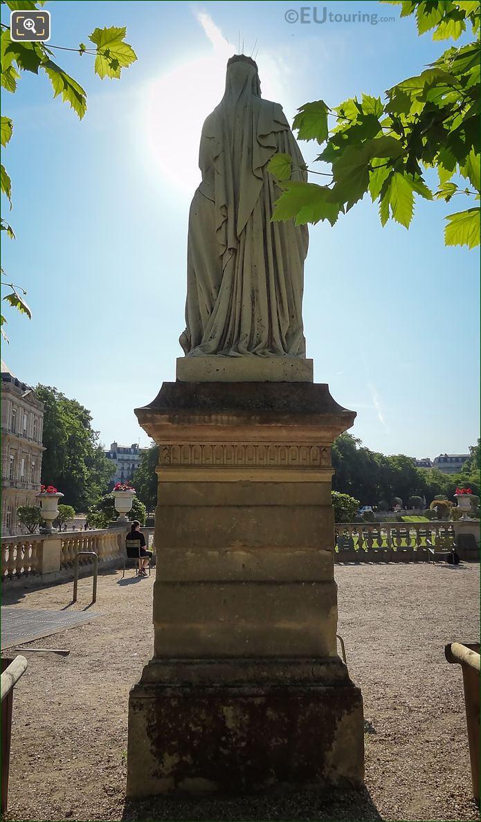 Marble Statue Of Sainte Clotilde