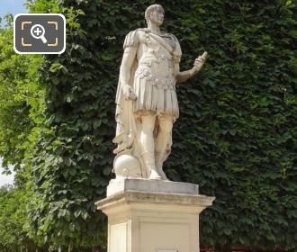 Julius Caesar Statue On Stone Pedestal