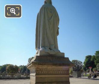 Back Of Anne d'Autriche Statue In Paris