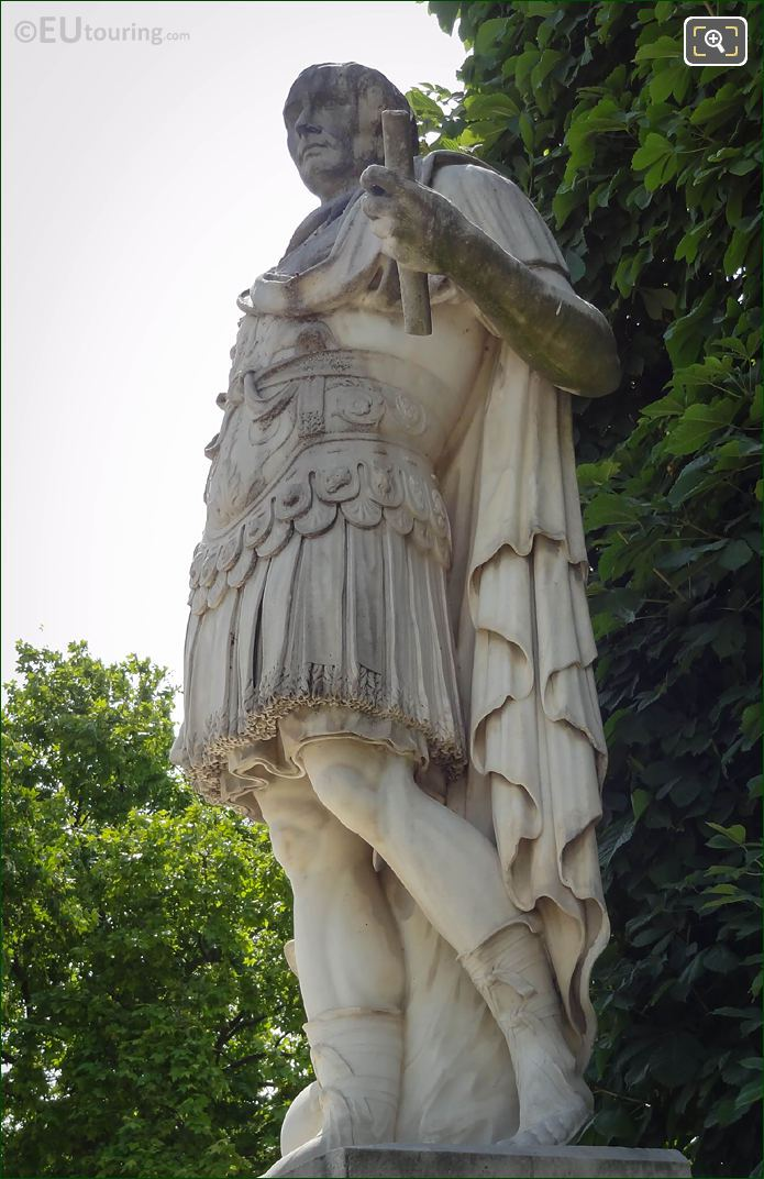 Front And LHS Of Julius Caesar Statue