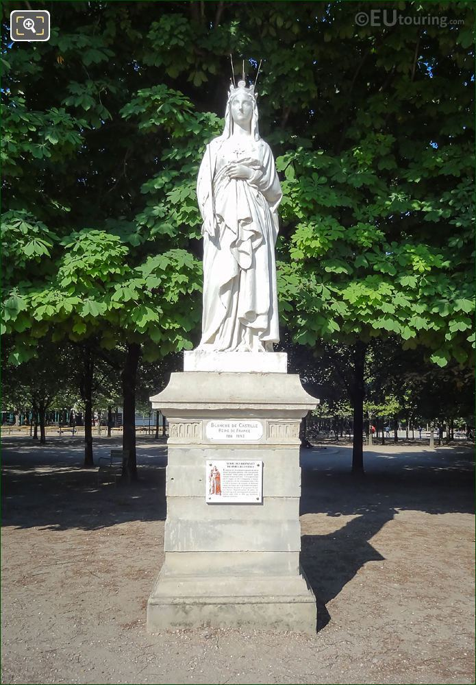 French Queen Blanche Of Castile Statue Luxembourg Grdns
