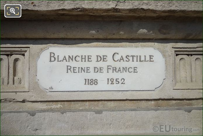Plaque For Blanche Of Castile Statue