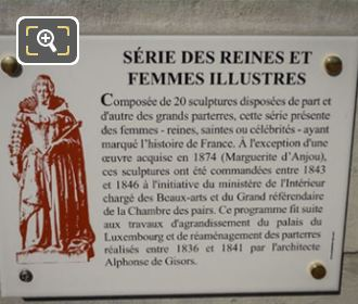 Information Plaque On Blanche Of Castile Statue