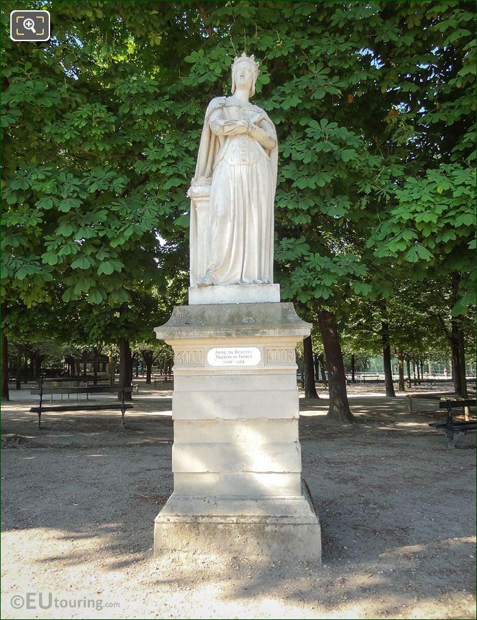 1847 Anne De Beaujeu Statue Jardin Du Luxembourg