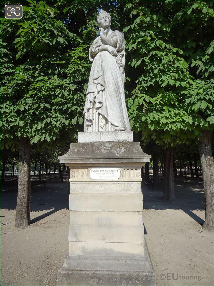 Marguerite d'Angouleme Statue Jardin Du Luxembourg
