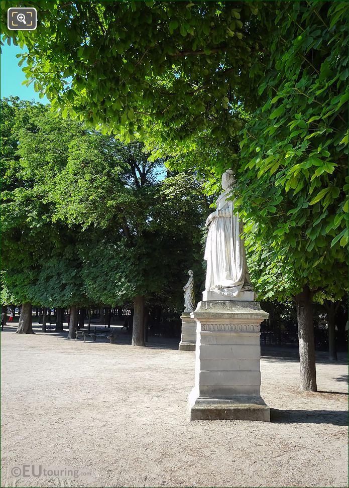 Marie De Medicis Statue On Pedestal