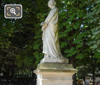 Laure De Noves Statue Jardin Du Luxembourg