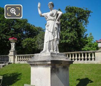 Junon, Reine Du Ciel Statue On Pedestal