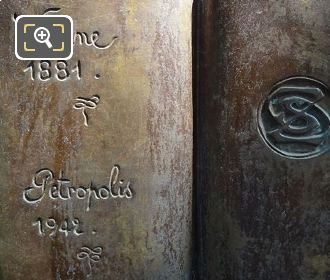 Bronze Book On Stefan Zweig Monument